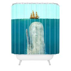 Terry Fan The Whale Shower Curtain | DENY Designs Home Accessories