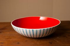 """""""Seersuckered"""" Serving Bowl by Young Alexander, Baltimore, MD Color Inspiration, Interior Inspiration, Cute Mugs, Ceramic Bowls, Favorite Color, Favorite Things, Dinnerware, Serving Bowls, Tea Pots"""