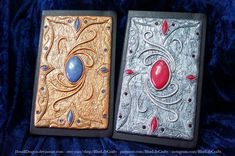 Polymer Clay Journal Covers made for carrie-lou by JSmallDragon