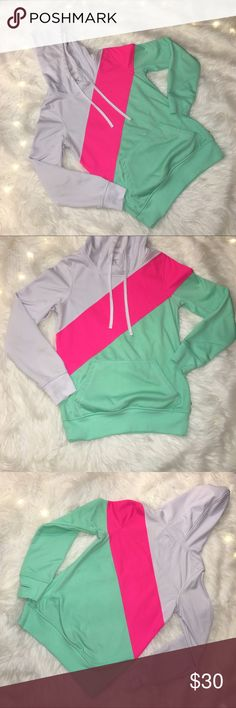 Zumiez Empyre green pink and white sweatshirt This Zumiez Empyre brand sweatshirt is in great condition! Only damage is shown in last pic and only visible close up with flash. Only warn a couple times, please feel free to make an offer or bundle for big discounts! Zumiez Jackets & Coats
