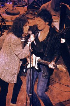 "Patti Smith & Bruce Springsteen CBGB 2nd Ave Theater 1977 - Another photo of Patty and ""the Boss"" - color photo -"