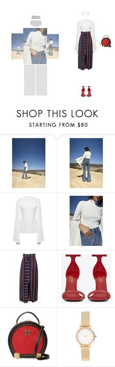 """""""Outfit Of The Day"""" by naudad ❤ liked on Polyvore featuring Yves Saint Laurent, MCM, Skagen and Eloquii"""