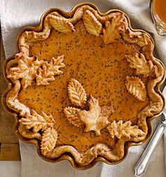 Leaf cookie cutters make great pie crust designs for Fall.