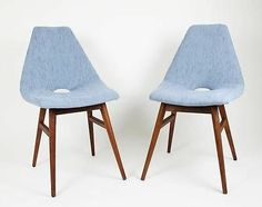 MID CENTURY GUARICHE Tonneau Inspired RETRO ERIKA Chair Judit BURIAN DESIGN 1959