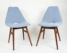 MID CENTURY GUARICHE Tonneau Inspired RETRO ERIKA Chair Judit BURIAN DESIGN 1959