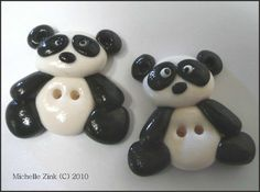 clay panda buttons