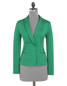 Coloured blazers are the best (instead of coloured jeans)! Get this one off at Jacob with your SPC Card. Green Blazer, Colored Blazer, Colored Jeans, Mix N Match, Work Wear, Spring Fashion, Spring Summer, My Style, Casual