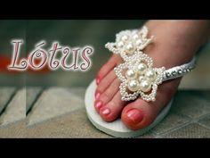 Chinelo decorado: Flor de pérolas - YouTube