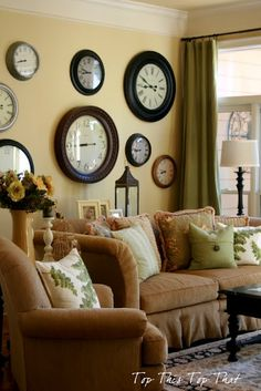 Clock Wall Decor i want a wall of clocks in the living room. one of them i want to