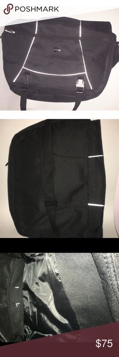 """American Tourister Laptop Bag NWOT turdy fabric. Foam panel inside. 3 divided sections. An outer section with 5 slip pockets,1 pocket with velcro flap,2 narrow pockets for pens etc ,1 zip pocket. Zipper around perimeter of bag allowing 6in width. Has shoulder strap and snap toggle for keys etc DETAILS Type:Laptop Bags Measurements:18""""L x 14""""H x 2""""W Color:black Brand:American Tourister Fabric:sturdy woven fabric Style/Collection:933950 Style Tags:American Tourister Laptop Bags American…"""