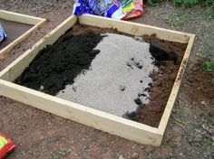 Making Dirt for Gardening Boxes