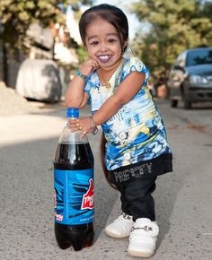 At 21 years of age, Jyoti Amge is only 62.8cm tall. That translates into 2ft. 0.6 inches.