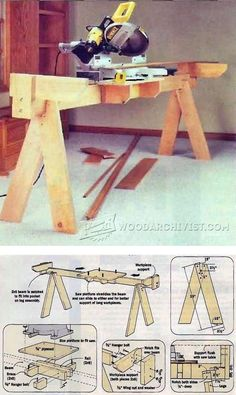 Knock-Down Miter Saw Station Plans - Miter Saw Tips, Jigs and Fixtures | WoodArchivist.com