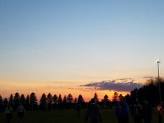The sky at my 2nd track meet in Luverne