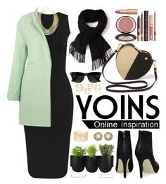 """Yoins.com"" by oshint ❤ liked on Polyvore featuring BCBGMAXAZRIA, Lacoste, Charlotte Tilbury, Authentics, Ray-Ban, Charlotte Russe, Kendra Scott and yoins"