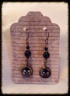 Swamp Symbol Brass Earrings / Magic The Gathering on Etsy