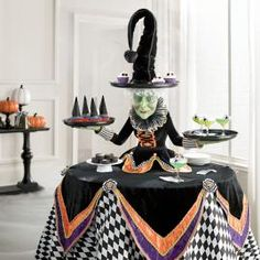 Shop for witch decorations and witch figures at Grandin Road Halloween Haven. Find witch decor and flying witch decorations to bewitch your home this Halloween. Halloween Party Supplies, Halloween Home Decor, Outdoor Halloween, Diy Halloween Decorations, Halloween House, Holidays Halloween, Spooky Halloween, Halloween Crafts, Happy Halloween
