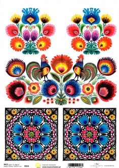 Powycinaj na ludowo - Papier ryzowy ITD Collcetion Polish Folk Art, Decoupage Paper, Ornament, Blanket, Retro, Crochet, Collection, Products, Rice Paper