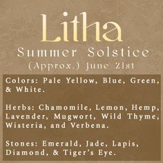 Summer Solstice:  #Litha.