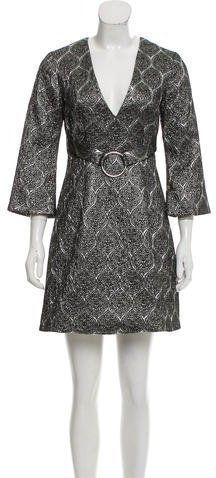 Suno Bell Sleeve Brocade Dress w/ Tags