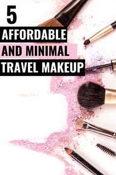 Are you a minimalist? These 5 minimal travel makeup products are gorgeous, budget friendly and can easily fit in a carry-on. You must have these 5 makeup bag essentials on your next trip! Carry On Makeup, Travel Makeup Essentials, Minimal Travel, Solo Travel Tips, Europe On A Budget, Minimal Makeup, Make Money Blogging, Traveling By Yourself, Minimalism