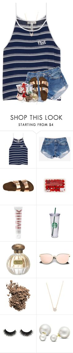 """""""ask me what's my best side i stand back and point at you"""" by theblonde07 ❤ liked on Polyvore featuring Victoria's Secret, Birkenstock, MILK MAKEUP, Tocca, Dolce&Gabbana, Adina Reyter and Allurez"""