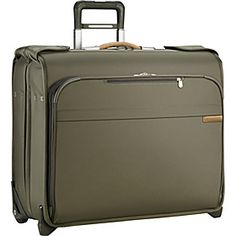Briggs  Riley Baseline Deluxe Wheeled Garment Bag - Olive - via eBags.com!