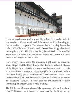 literature- grade 4-Nepal special-My visit to Hanuman Dhoka Palace Museum (2)