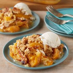 A super-simple sweet comfort food, made with 3 ingredients! No mixer, no eggs! Just layer fruit, cake mix and butter right in the baking dish, and a delicious dessert bakes up that's somewhere between a cobber and a fruit crisp. Keep it good and simple, or try a variation to twist up the fun.