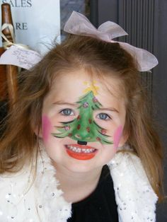 Christmas Face Painting by Christine