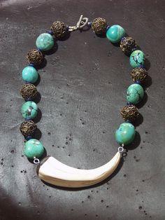 tusk (wart hog), turquoise | Katie O