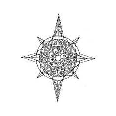 Compass tattoo - with Thai patterns instead