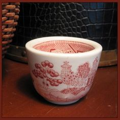 Sterling China Red Willow Cup Vintage Restaurant Ware   PattyAnn - on ArtFire