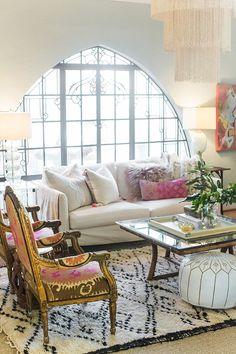 Black and white living room shag rug