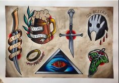 Love these Lord of the Rings tattoos. Lol