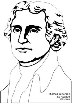 Free printable President Thomas Jefferson coloring pages Museum