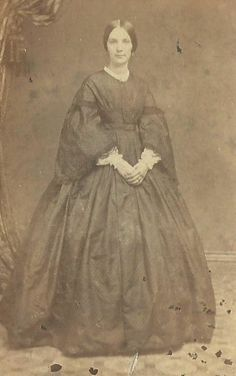 CDV Photo Lovely Woman in Large Hoop Dress Civil War Era Peoria Illinois photograher Coles   eBay