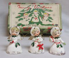 3 Vintage Christmas Angels