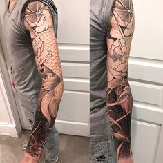 "2,253 Likes, 8 Comments - Danny (@danny_chronicink) on Instagram: ""Double koi and lotus in progress • • • • •…"""