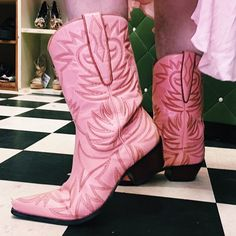 PUNK Pink Rodeo Western Cowboy Boots by Guess