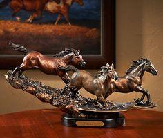 6113223581: Freedom - Horses Sculpture