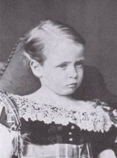 Grandchild of Queen Victoria - Prince Friedrich of Hesse and by Rhine (1870 -1873) was the second son of Ludwig IV, Grand Duke of Hesse and by Rhine, and Princess Alice of the United Kingdom, daughter of Queen Victoria. Suffered from hemophilia & died from internal bleeding after a fall from a window at the age of two & a half.