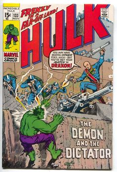 Incredible Hulk 133 Marvel 1970 VF Herb Trimpe Roy Thomas