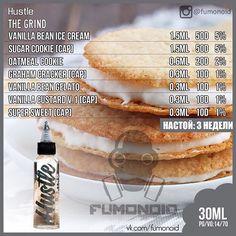 Hustle, The Grind Vanilla Bean Ice Cream, Vanilla Custard, Diy Vape Juice, Vape Diy, E Juice Recipe, Diy E Liquid, Graham Cracker, Clone Recipe, Cream And Sugar