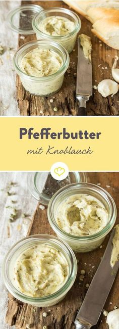 Mild war sooo gestern: Knoblauch-Pfeffer-Butter Where the pepper grows, the pep. - Mild war sooo gestern: Knoblauch-Pfeffer-Butter Where the pepper grows, the pepper butter is not f - Pork Chop Recipes, Grilling Recipes, Sauce Recipes, Fish Recipes, Slow Cooker Recipes, Chicken Recipes, Seared Salmon Recipes, Pan Fried Salmon, Pan Seared Salmon