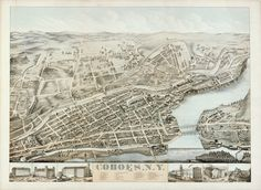 Birds-Eye-View of Cohoes, N.Y. - Albany Institute of History and Art