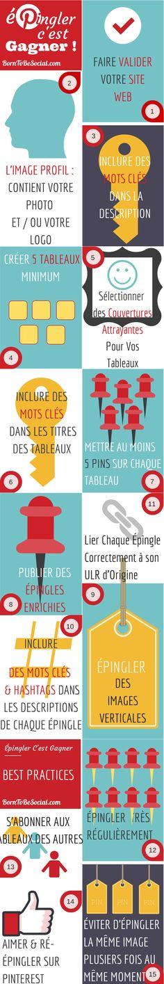 Épingler C'est Gagner ! - 15 Conseils pratiques pour démarrer [Infographie]