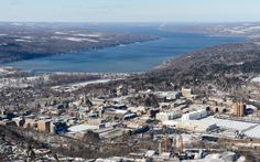 Cornell and Cayuga Lake, as seen before landing at the Ithaca airport by Jim Smith '14, Ph.D. Mechanical Engineering