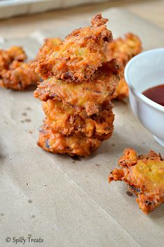 Spicy Treats: Mashed Potato Fritters ~ Vegan N Gluten Free !!