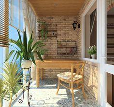 Французский дворик на балконе